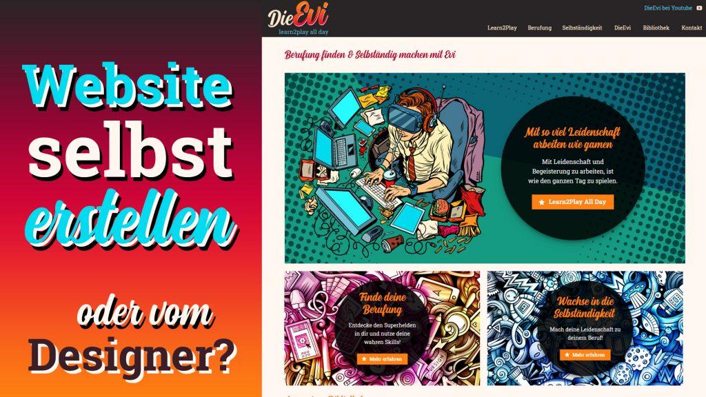 Website selbst erstellen oder vom Webdesigner?